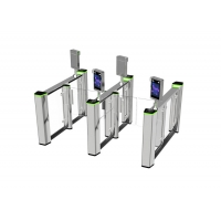 China Aluminum alloy champagne color fast speed access control high speed glass gate on sale