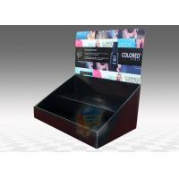 Buy cheap Table Top Cardboard Display Stand 2 Tiers for Cosmetics , foldable from wholesalers