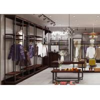 Buy Inexpensive Metal Apparel Showroom Displays Customized Logo Simple Style at wholesale prices