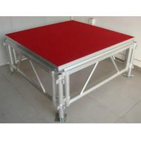 Quality Red Plywood Movable Stage Platform Simple Stage , Corrosion Resistance for sale