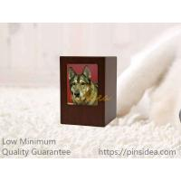China Good Quality Pet Aftercare Rich Cherry Wooden Photo Frame Funeral Supply Cremation Ashes Urn Box. Guality Guarantee. on sale