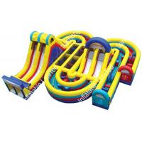 China Waterproof Colorful Giant Inflatable Obstacle Course party rentals for fun on sale