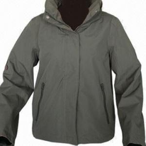 Quality Women's Outdoor Jacket, Army Green/Dark Navy, Windbreaker, Softshell Jacket, Waterproof, Breathable for sale
