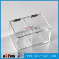 Quality 2016 newest clear/plexiglass customised acrylic small boxes with lid for sale