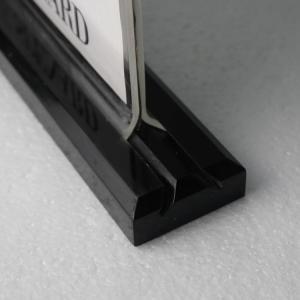 China Wholesale custom logo 8.5*11 Acrylic sign holder with black base on sale