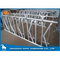 Quality 7 place Locking Feed Barriers , Dairy Cow Headlock Feed Lines Fence for sale
