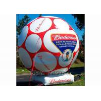 Quality Giant Inflatable Football Sports Themed Balloons White / Yellow For Advertising for sale