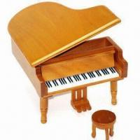 Quality Wooden Piano with One Seat, Measures 12.5 x 14.5 x 9.2cm for sale