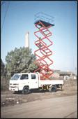 Quality Trailer Mounted Aerial Lifts , Scissor Lift Platform For Building Maintaining for sale