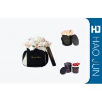 Quality Black Flower Packing Boxes , Small Cardboard Boxes With Handles / Lids for sale