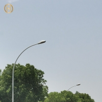 Quality Hot Dip Galvanized 8M Q460 Steel Street Lamp Pole for sale