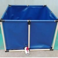 Buy PVC Coated Customized Tarpaulin Fish Tank ,  3200L Cold Resistance Fish Tank at wholesale prices
