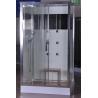 Buy cheap Luxury Massage Corner Shower Stalls , Rectangular Shower Cabin with bamboo seat from wholesalers
