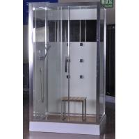 Buy cheap Luxury Massage Corner Shower Stalls , Rectangular  Shower Cabin with bamboo seat 1200x800x2150mm from wholesalers