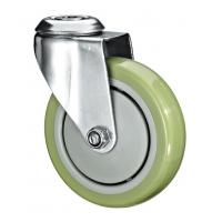 "Quality 5""X1-1/4 Customized PU Caster Wheel With Swivel Kingpin Fitting for sale"