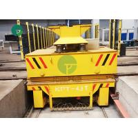 China Rail Guided Battery Platform Ferry Motorized Trolley Transport Cart With Lifting System on sale