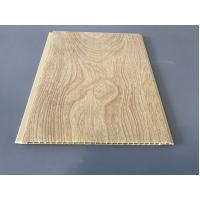 Quality 10 Inch × 7.5mm PVC Ceiling / Wall Panel Peanut Wood Pattern Smooth Slab for sale