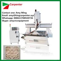 China wood cnc router with rotary KC1325RH cnc milling machine 4 axis with the spindle can rotary 180 degree on sale
