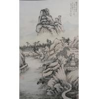 Quality art painting China calligraphy library wall painting for sale