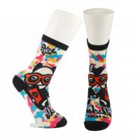 Buy Adults  OEM Service  Breathbale Eco-friendly Custom Made Size 3D-Printing Socks at wholesale prices