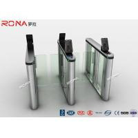 Quality Acrylic Swing Access Control Turnstiles Face Recognition For Business Building for sale