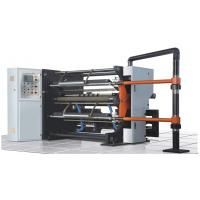 Quality J-1300 High-speed Slitting Machine 800mm unwind 500mm rewind 400m/m shaftless double slipped air shafts PLC import parts for sale