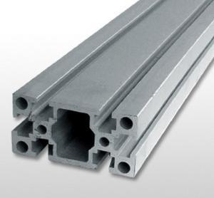 Quality Silver Industrial Aluminium Profile , Alloy 6061 T6 Aluminium Extrusion for sale