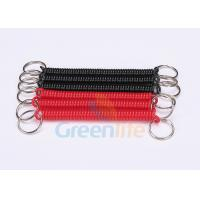 Quality Promotional 2.5mm Coiled Key Lanyard Red / Black Retractable With Nylon String for sale