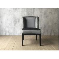 Quality Grey Velvet Fabric Hotel Dining Chairs Indoor , French Style Dining Chairs for sale