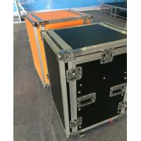 Buy Solid 9mm Thickness Plywood Black 10 Amplifier Rack Flight Case at wholesale prices