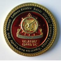 Quality Metal US Army Military Coins With Soft Enamel / Dye Black Zinc Alloy Material for sale