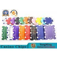 Quality Customized 12g ABS Material Sticker Casino Poker Chips Jeton Yangming for sale