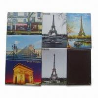 Quality Crystal Glass Fridge Magnets for Promotional and Gift Purposes, Customized Designs are Accepted for sale