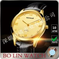 Quality 77577 Luxury Brazil Diamond 18K Solid Gold Watch With Black Dial  Branded for sale