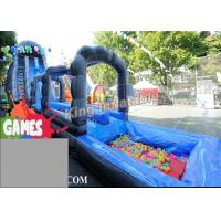 Quality Blue / Green Customized Inflatable Water Slide With Constant Blowing System for sale