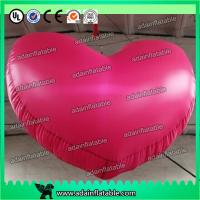 Quality 1m Party Inflatable Lighting Decoration , 210T Nylon Cloth 3ft Inflatable Heart for sale