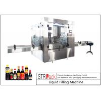 Quality 24 Head Nozzle Automatic Liquid Filling Machine For 0.5 - 2L Wine / Soy Sauce for sale