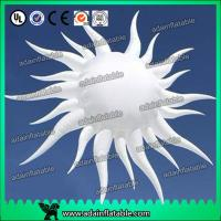 Quality White Hanging Inflatable Sun For Club Event Hanging Decoration for sale