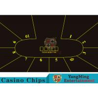 Buy cheap Good Resilience Casino Table Layout High Density Black Color With Crown Logo from wholesalers