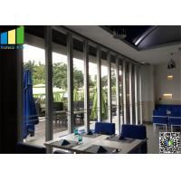 China 65mm Glass Wall Partition For Shopping Mall , Office Demountable Glass Walls on sale