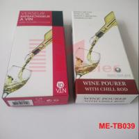 Quality Color printed paper box for wine pourer with chill rod ME-TB039 for sale