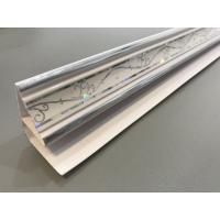 Quality Customized Top Cornice Plastic Corner Profile White With 5.95m Shining Part for sale