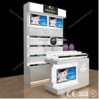 Buy HOT SALE Retail Store Design Wooden Glass Cosmetic Display Showcase at wholesale prices