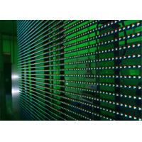 Quality Flexible LED Video Display Screens , Strips Transparent Wall Facades Screens for sale