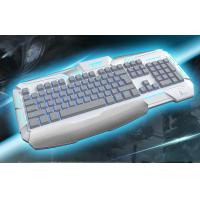 Quality Membrane ergonomic gaming keyboards backlight With 19 key anti-ghosting for sale