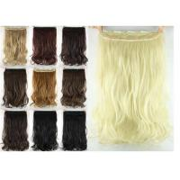 Quality Girls 24 Inch Synthetic Hair Extensions Natural Curly Human Hair Ponytail for sale