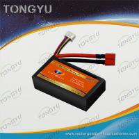 Quality Black Multicopters Lipo Battery Pack 7.4V 1800mAh 40C Discharge Rate for sale