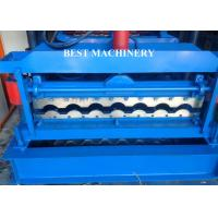 Quality Glazed Corrugated Metal Roof Tile Roll Forming Machine PLC Control System for sale