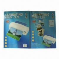 Quality Laminating pouches, made of PET and EVA, clear, transparent, and exquisite for sale