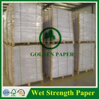 Buy cheap 60g 70g 75g 80g 100g high wet strength paper for beer label from wholesalers